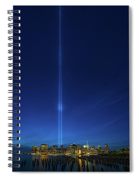 Four Miles Of Light Spiral Notebook