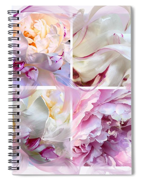 Four Peonies  Spiral Notebook