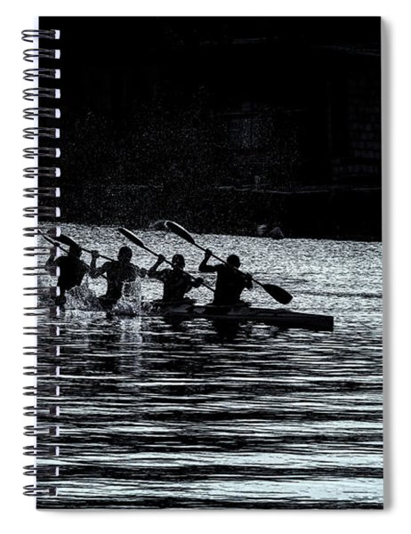 Four Rowers Spiral Notebook