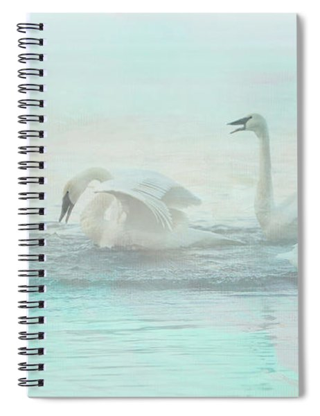 Four Swans Watercolor Group Play Spiral Notebook by Patti Deters