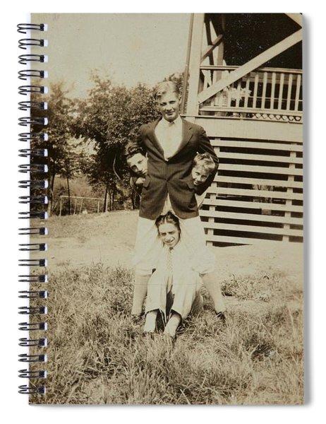 Four Young Men  Ca  1920 Gelatin Silver Print Spiral Notebook