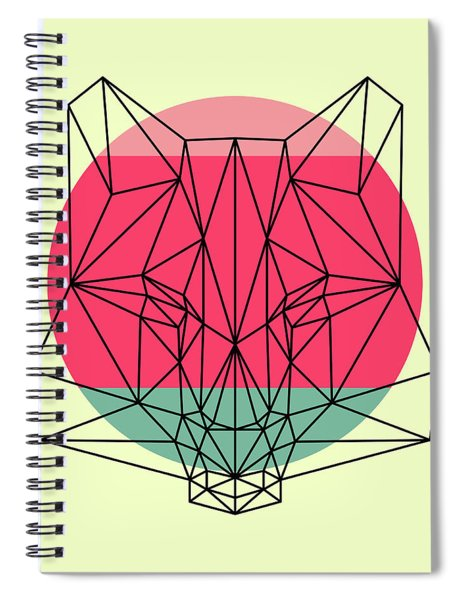 Fox And Sunset Spiral Notebook