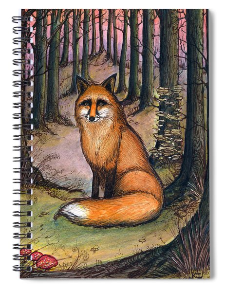 Fox In The Woods Spiral Notebook