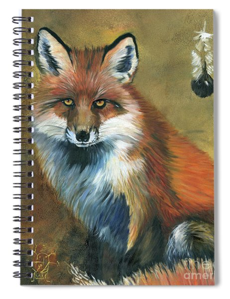 Fox Shows The Way Spiral Notebook