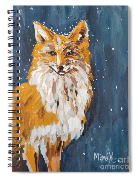 Fox Winter Night Spiral Notebook
