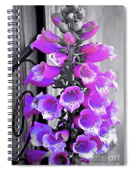 Spiral Notebook featuring the photograph Foxglove by Patti Whitten