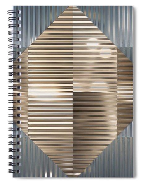 Fractal Geometry Spiral Notebook