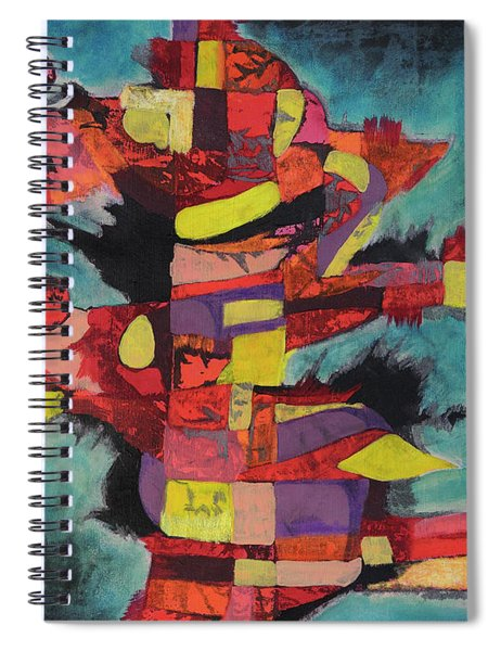 Fractured Fire Spiral Notebook