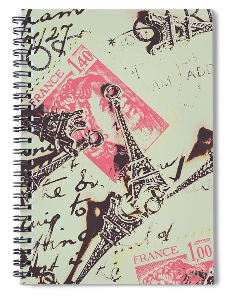 Francs Script Spiral Notebook