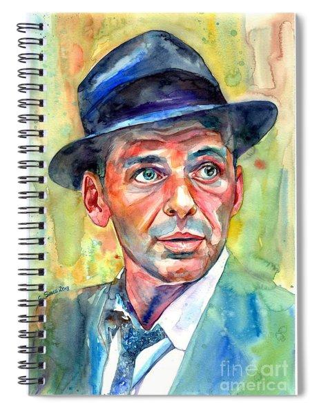 Frank Sinatra Wearing A Fedora Spiral Notebook