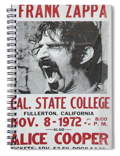 Frank Zappa Alice Cooper 1972 Poster Spiral Notebook