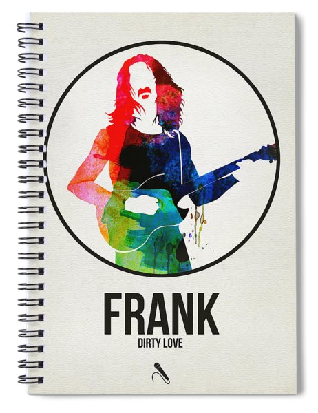 Frank Zappa Watercolor Spiral Notebook