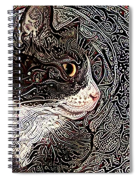 Franklyn The Tuxedo Cat Spiral Notebook