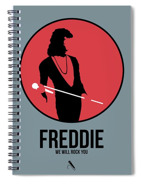 Freddie Mercury Spiral Notebook
