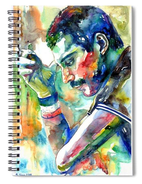 Freddie Mercury With Cigarette Spiral Notebook
