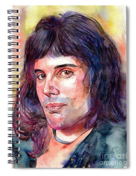 Freddie Mercury Young Spiral Notebook