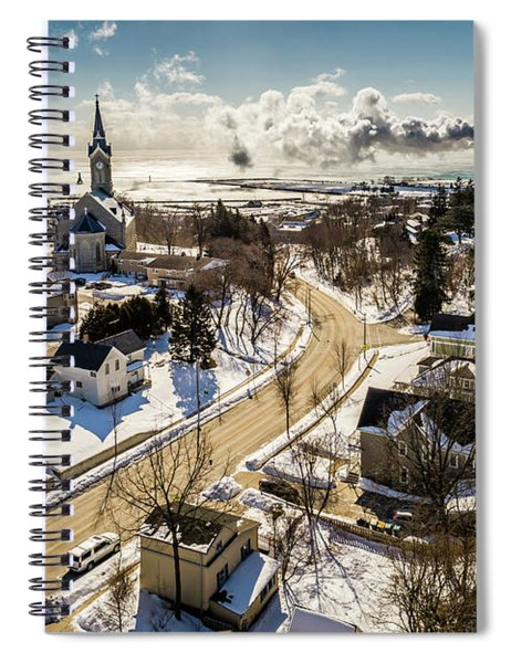 Freezing In Port Spiral Notebook