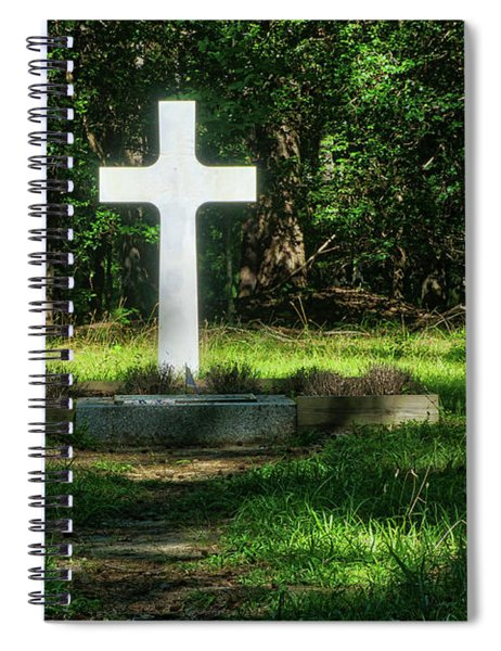 French Cross Spiral Notebook