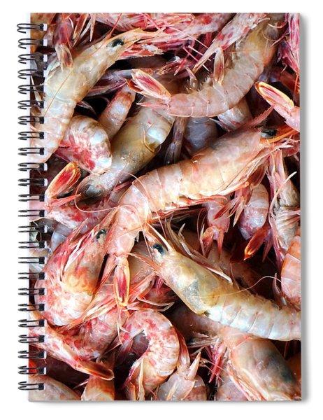 Fresh Prawns At The Fish Market Spiral Notebook