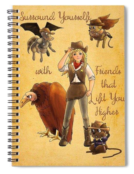 Friends That Lift Spiral Notebook