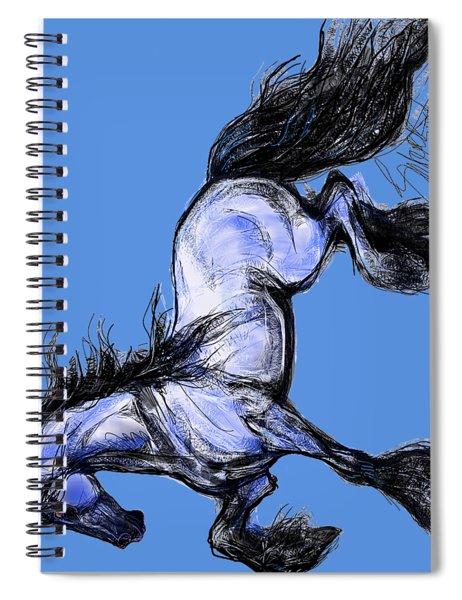 Friesian Mare Spiral Notebook