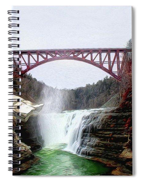 Frletchworth Railroad And Falls Spiral Notebook