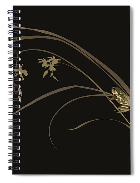 Frog And Orchid Spiral Notebook