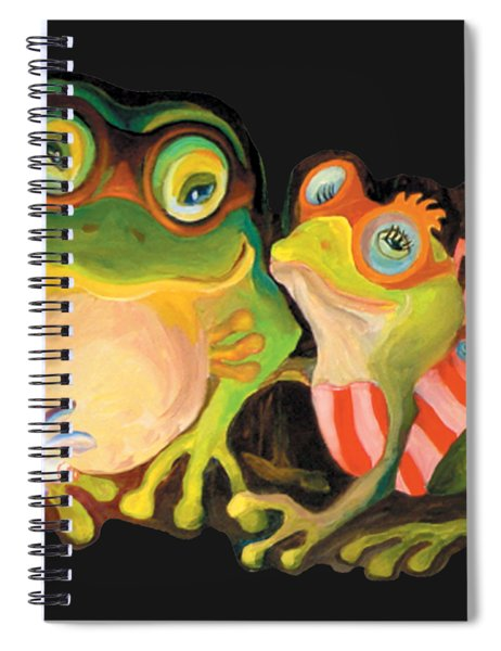 Frogs Overlay  Spiral Notebook