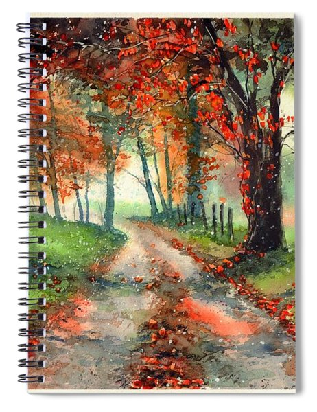 Frosty Autumn Patch Spiral Notebook