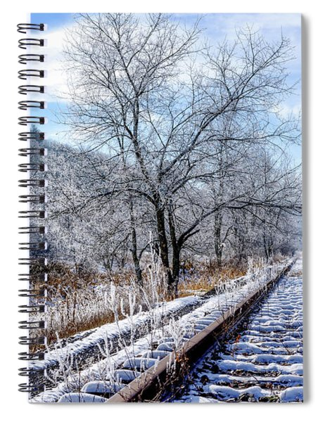 Frosty Morning On The Railroad Spiral Notebook