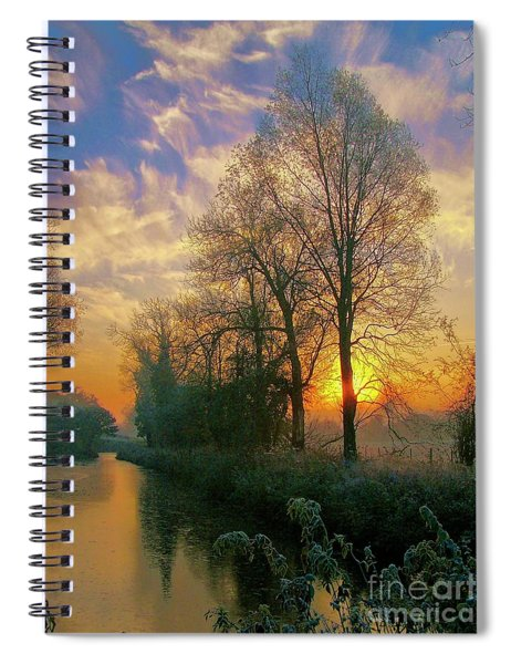 Frosty Winter Sunrise Spiral Notebook