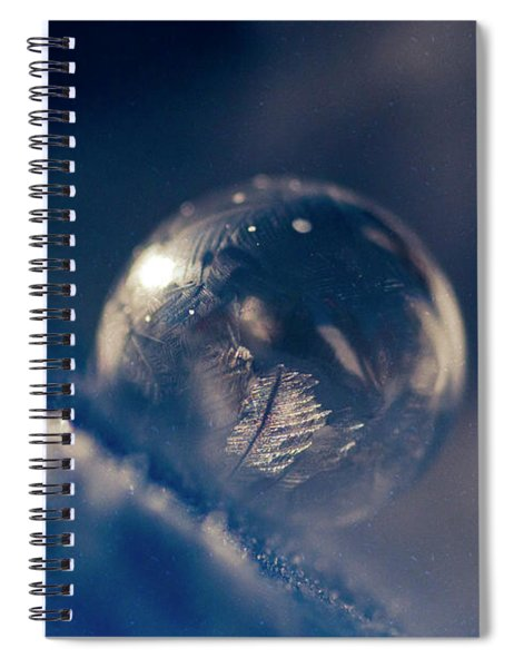 Frozen Bubble In Space Spiral Notebook