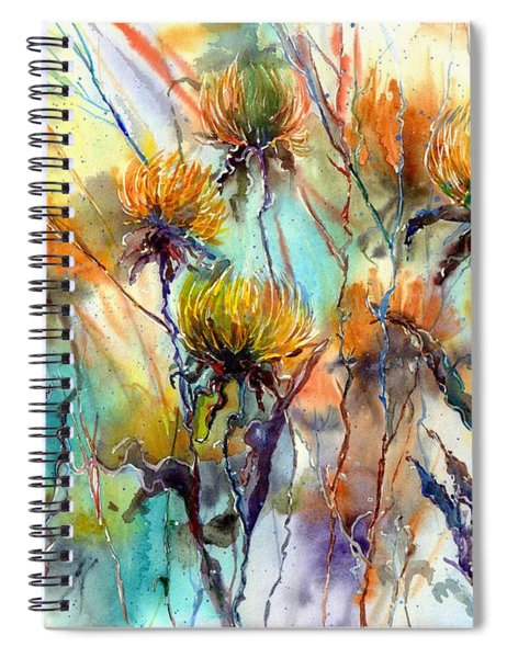 Frozen Chrysanthemums Spiral Notebook