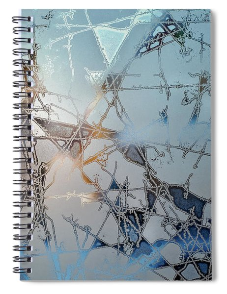 Frozen City Of Ice Spiral Notebook