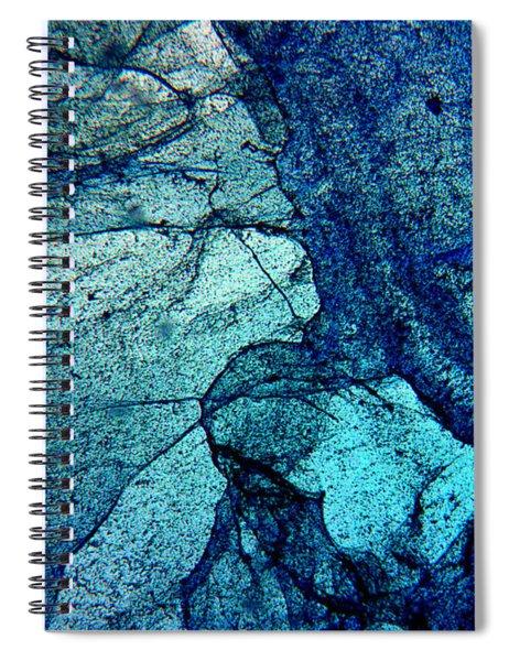 Frozen In Blue Spiral Notebook