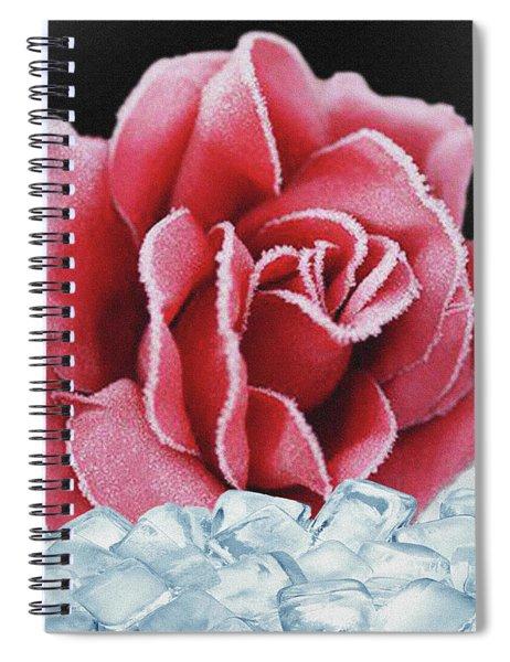 Frozen Rose Spiral Notebook