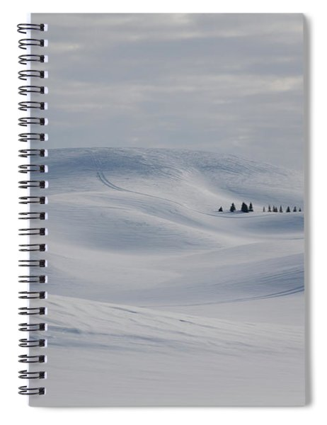 Frozen Winter Hills Spiral Notebook