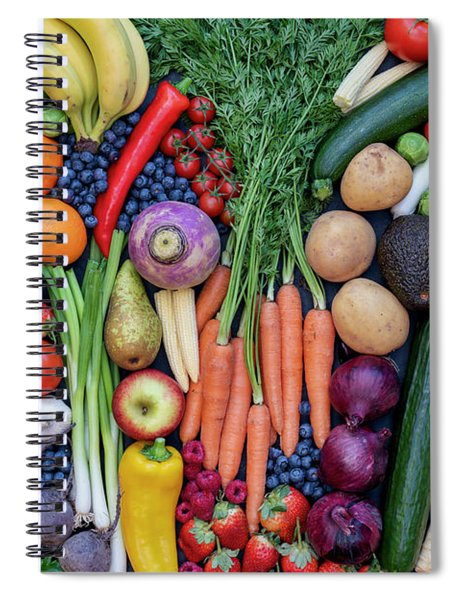 Fruit And Vegetables Spiral Notebook