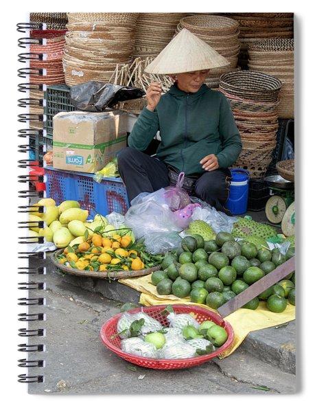 Fruit Market Woman 2, Vietnam Spiral Notebook