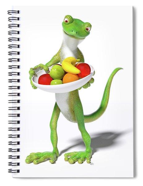 Fruitful Gecko Spiral Notebook