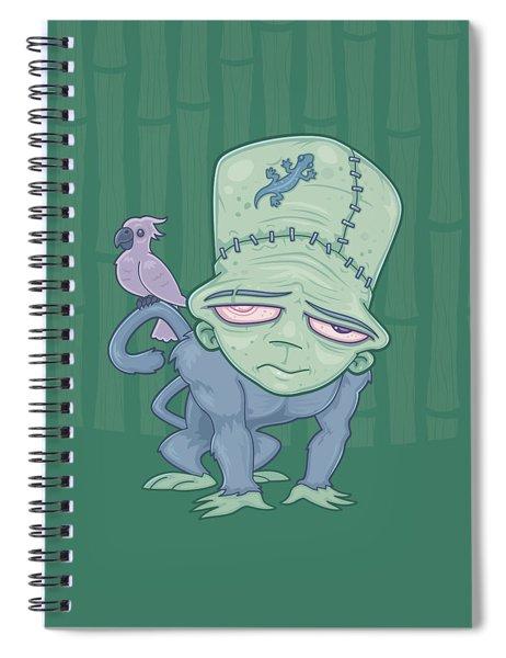 Frunkee - Frankenstein Monkey Creature Spiral Notebook