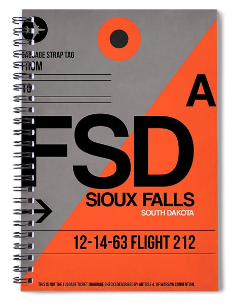 Fsd Sioux Falls Luggage Tag I Spiral Notebook