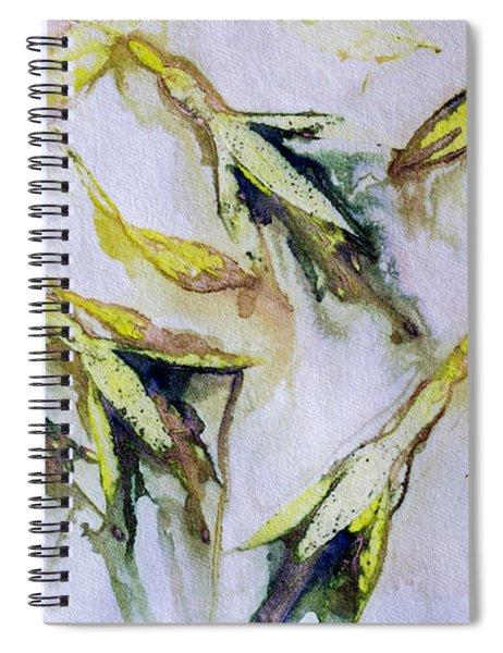 Fuchsia Eco Printed Magic Spiral Notebook