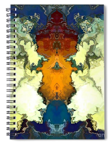 Spiral Notebook featuring the digital art Fuego  by A z Mami