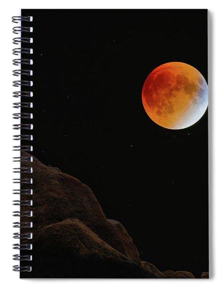 Full Blood Moon, Lunar Eclipse 1 Spiral Notebook