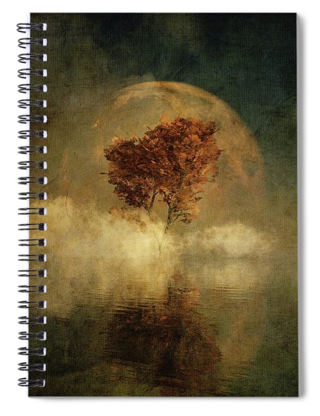 Full Moon Over Water Spiral Notebook