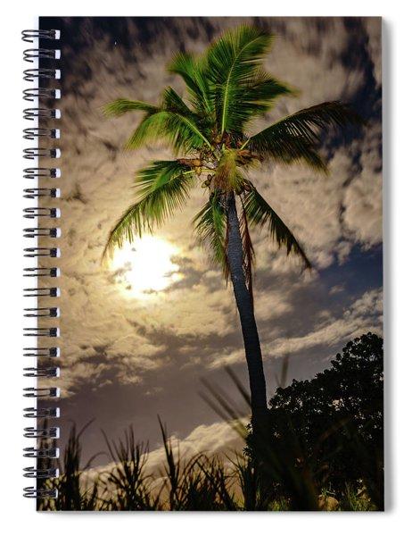 Full Moon Palm Spiral Notebook