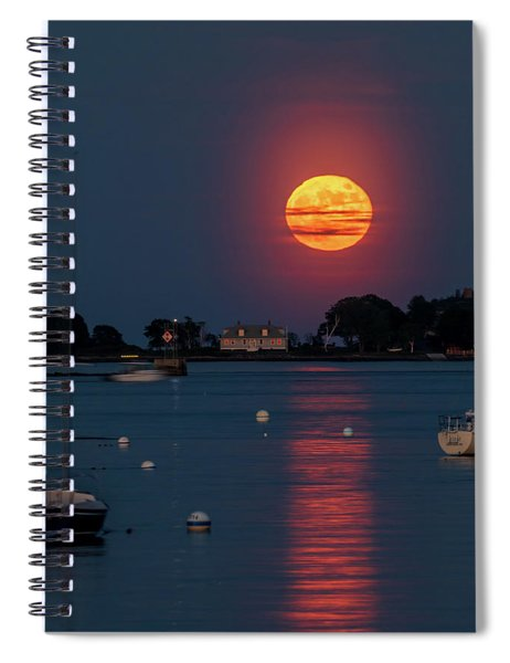 Full Strawberry Moon Rise Spiral Notebook