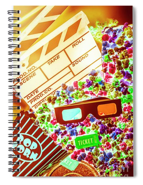 Funky Film Festival Spiral Notebook