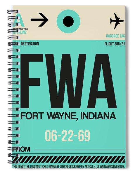 Fwa Fort Wayne Luggage Tag I Spiral Notebook